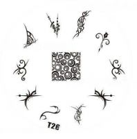 Tribal Stamping Nail Art platnička - T26