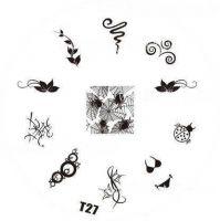 Tribal Stamping Nail Art platnička - T27
