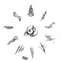 Tribal Stamping Nail Art platnička - T31
