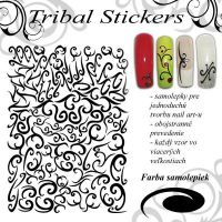 Tribal Stickers - White