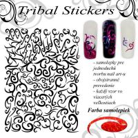 Tribal Stickers - Diamond Red