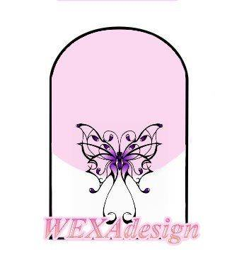 Nail Tattoos - Motyl Purple - 18