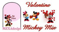 Nail Tattoos - Valentine Mickey Mix - 96