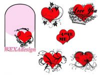 Nail Tattoos - Valentine Heart - 97
