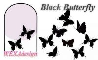 Nail Tattoos - Black Butterfly - 100