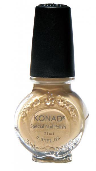 KONAD lak na Stamping Nail Art - Pieskový perleťový - 22