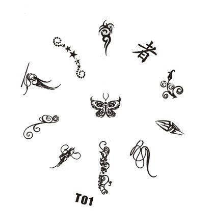 Tribal Stamping Nail Art platnička - T01