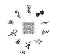 Tribal Stamping Nail Art platnička - T20