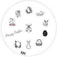 Tribal Stamping Nail Art platnička - T21 (veľká noc)