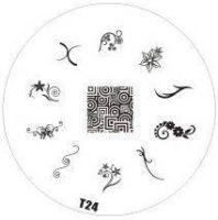 Tribal Stamping Nail Art platnička - T24