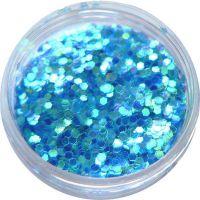 Konfety flitre malé - 10. modré aqua hologram