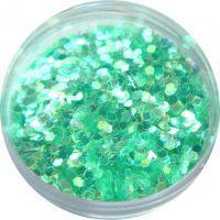 Konfety flitre malé - 11. zelenomodré aqua hologram