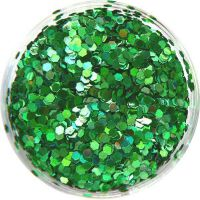 Konfety flitre malé - 16. zelené metal hologram