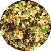 Konfety Flitre Mini Slim - 18. zlaté metal hologram