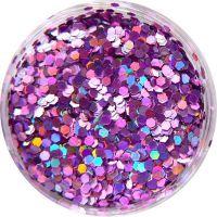 Konfety flitre malé - 23. ružová metal hologram