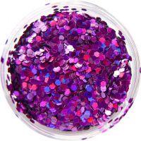 Konfety flitre malé - 24. fialová metal hologram