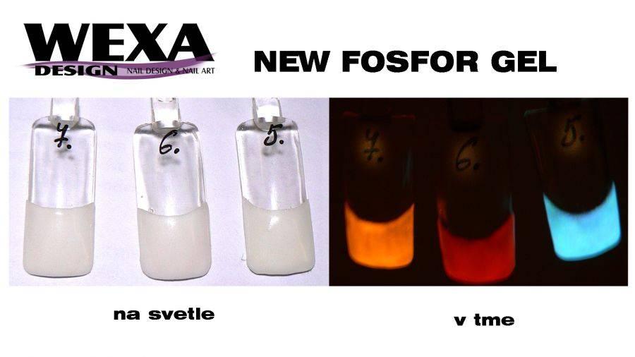 Fosfor gél - 7 biela/oranžová