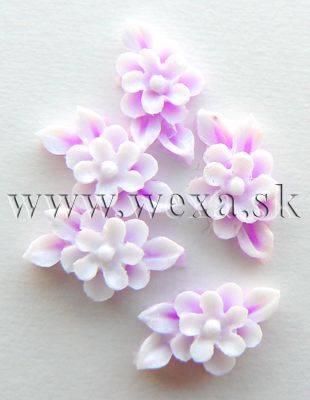 Silikónové kvietky - 7. kytička neon lila