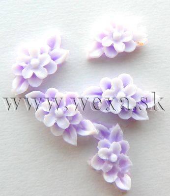 Silikónové kvietky - 8. kytička purple
