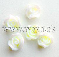 Silikónové kvietky - 2. ružička neon yellow