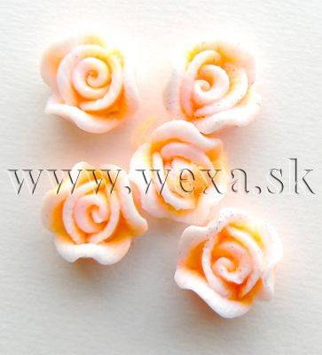 Silikónové kvietky - 3. ružička neon orange light