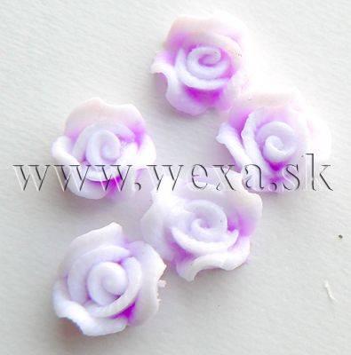 Silikónové kvietky - 6. ružička neon lila