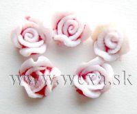 Silikónové kvietky - 8. ružička red