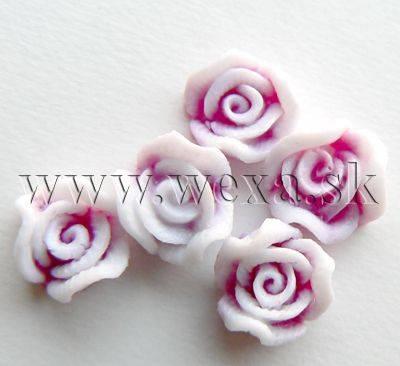 Silikónové kvietky - 9. ružička bordo