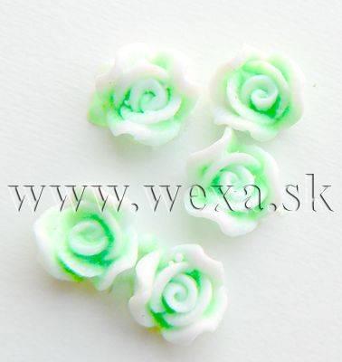 Silikónové kvietky - 10. ružička neon green