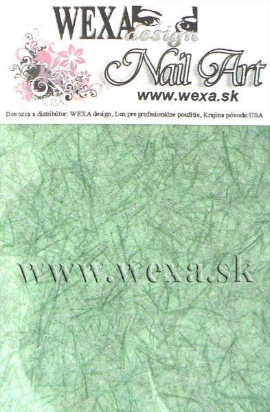 Nail art papier - zelený