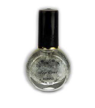 Stamping Regular Top Coat Silver Glitter