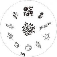 Tribal Stamping Nail Art platnička - T41