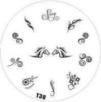Tribal Stamping Nail Art platnička - T30