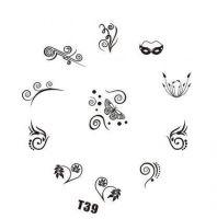 Tribal Stamping Nail Art platnička - T39