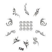 Tribal Stamping Nail Art platnička - T38