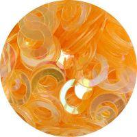Konfety flitre obrúčky - 13 okrové aqua