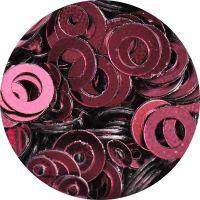 Konfety flitre obrúčky - 18. Metal Purpur