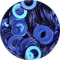 Konfety flitre obrúčky - 21. Metal Royal Blue