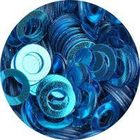Konfety flitre obrúčky - 22. Metal Turquoise