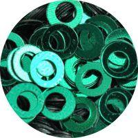 Konfety flitre obrúčky - 23. Metal Green