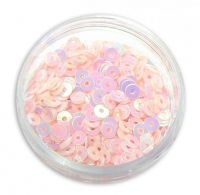 Konfety flitre CD - V baby pink L219