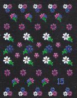 3D nálepky č.15 ružovo fialové