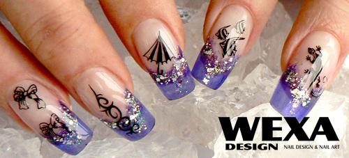 Glass Nail vytvorené pomocou Clear color gélu - CANDY nechty